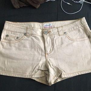 No boundaries tan shorts